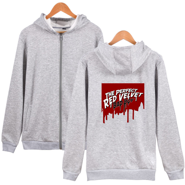 RED VELVET ZIP-UP HOODIE (24 VARIAN)