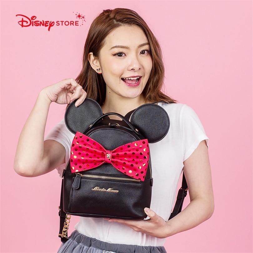 Disney Микки Мышь Для женщин рюкзак модный бренд Высокое качество искусственная кожа Школьный Сумки для подростка студентка мешок A248