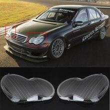 цены High Quality 1 Pair Left + Right Headlight Headlamp Clear Lens Cover For Mercedes Benz 01-07 W203 C-Class
