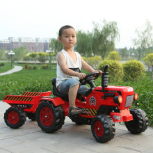Детский трактор для активного отдыха для детей от 2 до 6 лет, уличный трактор наземной силы с прицепом, детский педальный карт