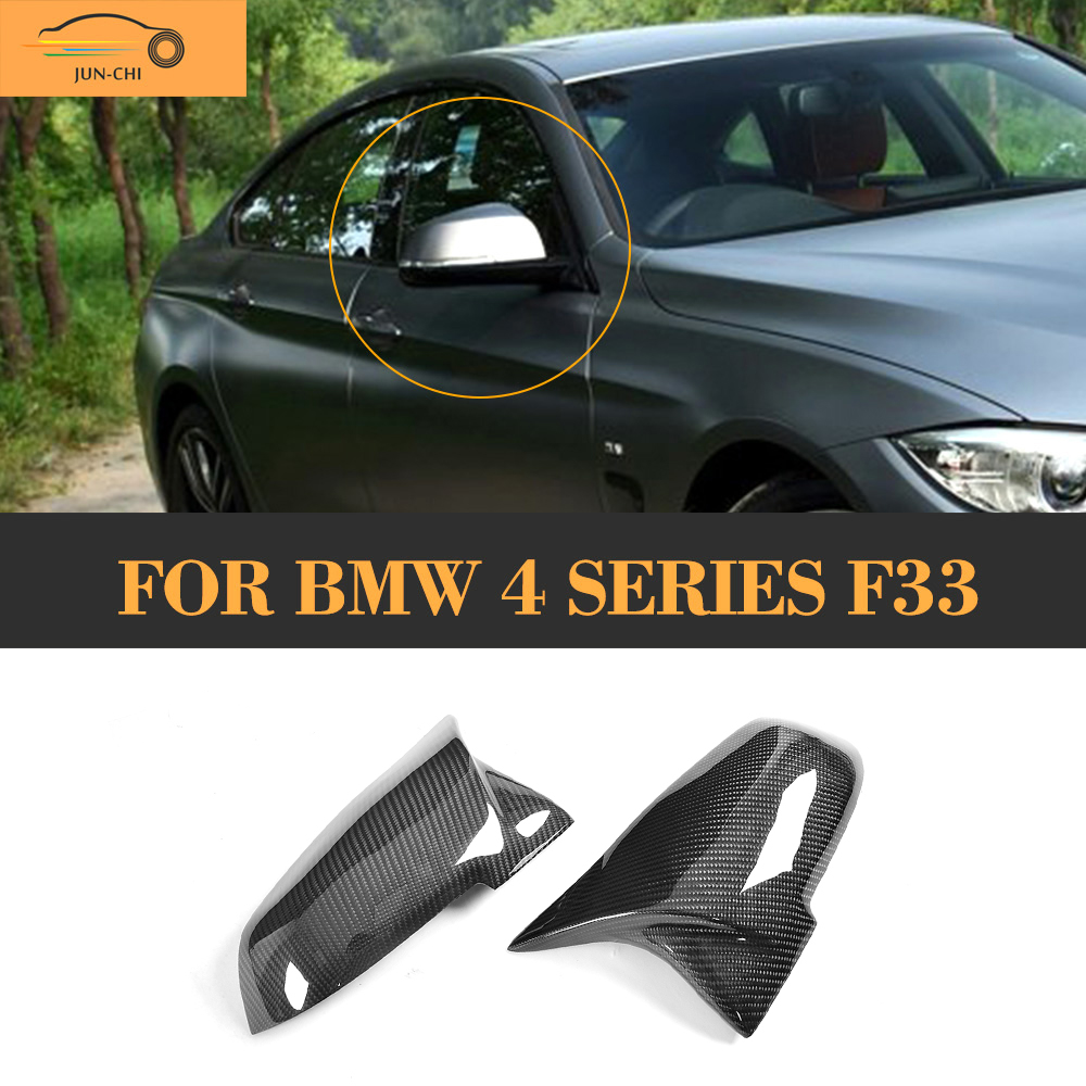 4 series Replacement Carbon Fiber Mirror Covers Caps Shell for BMW F32 F33 2 Door Only 14-17 Coupe M Sport convertable LHD Non M carbon fiber auto front lip splitter flags for bmw 4 series f32 f33 435i m sport coupe & convertible 2 door 2014 2016