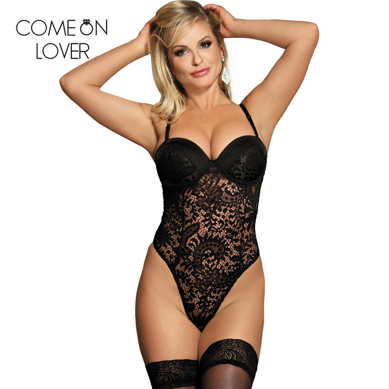 36abece2a3 Comeonlover Summer bodysuit with bra pad straps lace bodysuit floral  combinaison short femme bodysuits top jumpsuit R80285-in Bodysuits from  Women s ...