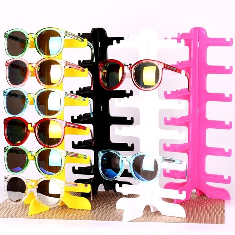 2018 6Pair Sunglasses Eyeglass Glasses Frame Rack Display Stand Organizer Show Holder A14_25