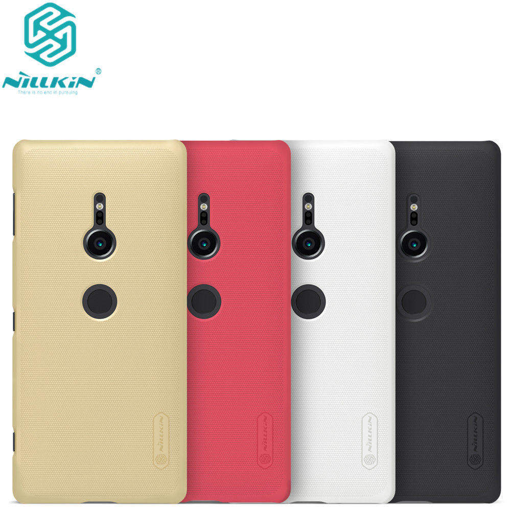 10pcs lot wholesale Nillkin Super Frosted Shield Case For Sony Xperia XZ2 PC Hard Back Cover