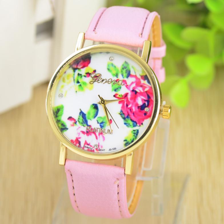 Женские наручные часы Geneva с силиконовым ремешком