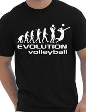 Evolution Of Volleyballing Sporter Mens T Shirt Gift Design T Shirts Casual  Cool(China)
