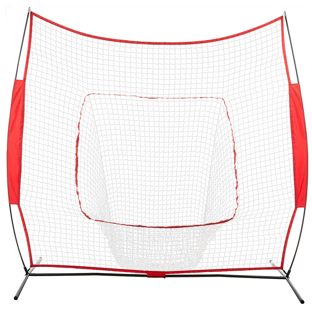 Baseball Train Net Rack Rebound Goal Red Sleevelet Baseball Softball Practice Hitting Batting Pitching Training Net - US Stock