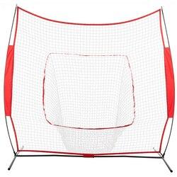 Baseball Train Net Rack Rebound Goal Red Sleevelet Baseball Softball Practice Hitting Batting Pitching Training Net - US Stock