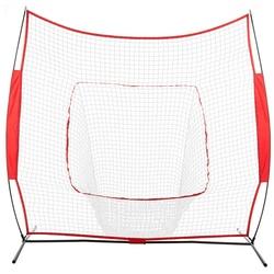 Baseball Trein Netto Rack Rebound Doel Rood Sleevelet Honkbal Softbal Praktijk Raken Batting Pitching Training Netto-US Voorraad