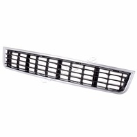 Front Bumper Center Lower Grille Grills For Audi A4 B6 Sedan 2002 2003 2004 2005 Chrome