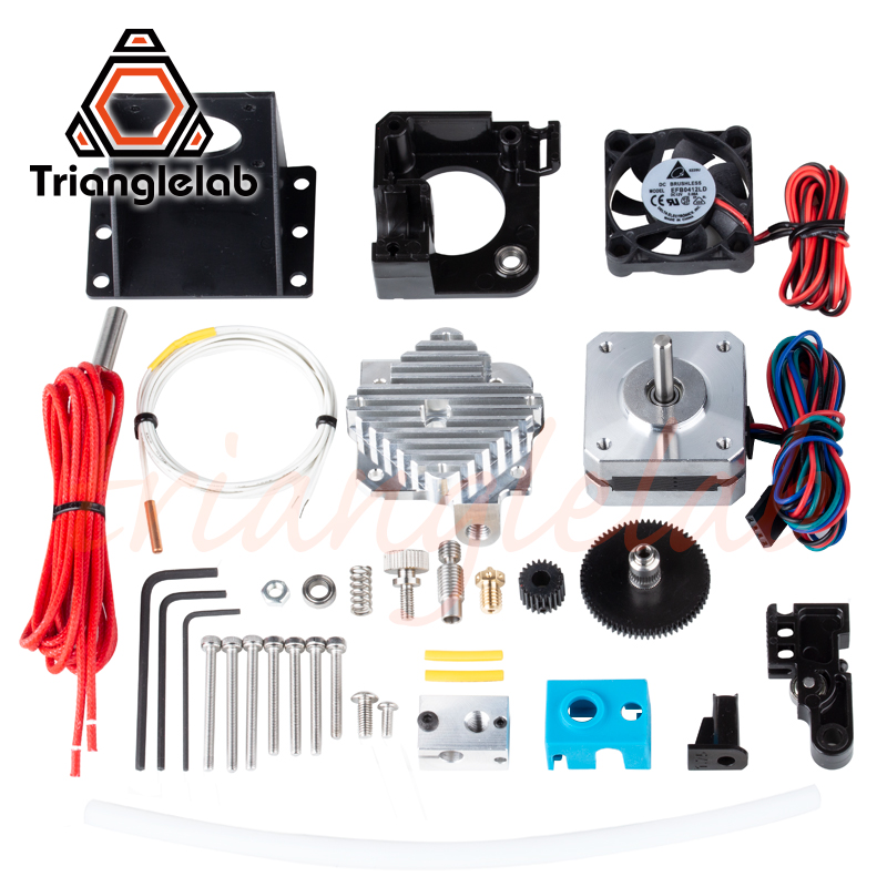 Titan Aero V6 Trianglelab impressora 3d reprap mk8 extrusora hotend extrusora kit completo titan kit completo i3 Compatível TEVO ANET