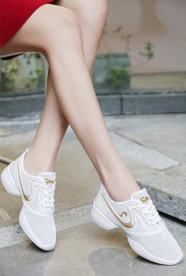 Danse Chaussures 7 Haute 3 4 De 2 Maille Qualité Femmes Casual 5 Mode 1 forme Lace Femme 8 Sneakers Plate D'été 6 up f4wq64