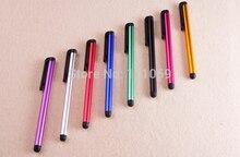 100ピース/ロットミニペン容量性スクリーンスタイラスタッチペンでクリップ用iphone 4 s 5 6 plus ipad mini ipad ipod touch用samsung