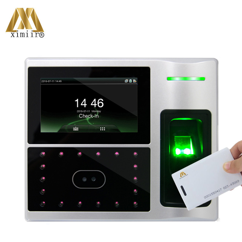 Linux System TCP/IP Communication 4.3inch Touch Screen Iface802-H RFID Card Face Fingerprint Attendance Machine