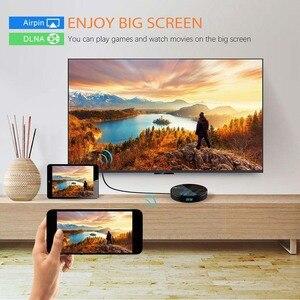Image 4 - スマートアンドロイド9.0 tvボックス4ギガバイトのram 64ギガバイトHK1最大なrockchip RK3318 USB3.0 1080 1080p H.265 4 18k 60fpsデュアル無線lan googleの音声制御HK1MAX