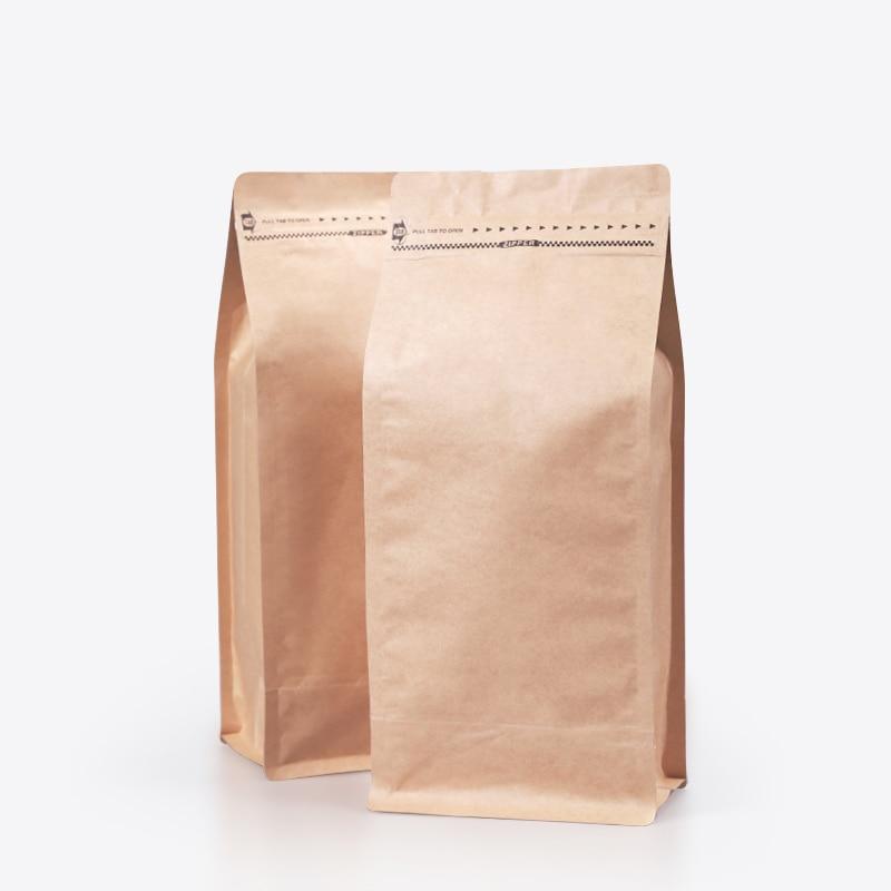 10pcs 2 pound kraft paper ziplock bag coffee beans ...