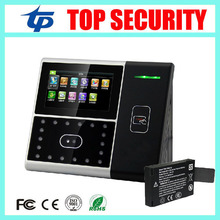 Different language support zk iface face and RFID card time attendance with back up battery touch screen facial access control
