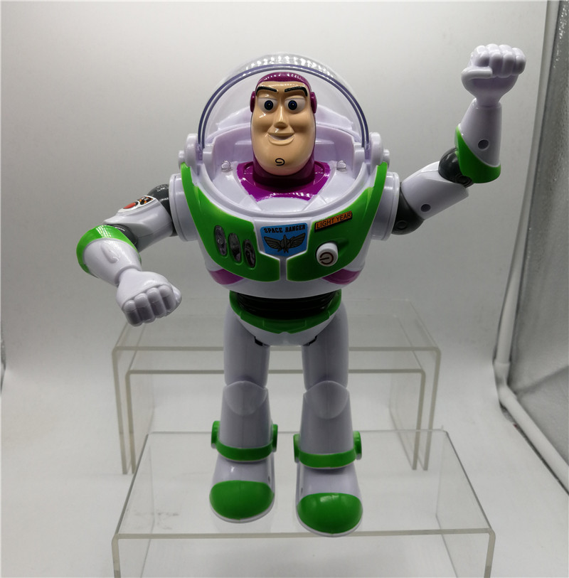 10 inch Anime Toy Story Buzz Lightyear Toys Lights Voices Speak English PVC Action Figures Collectible Model Toy Kids Gifts B16 free shipping toy story 3 buzz lightyear woody sound toys pvc action figures model toys dolls 3pcs set christmas gifts dsfg092