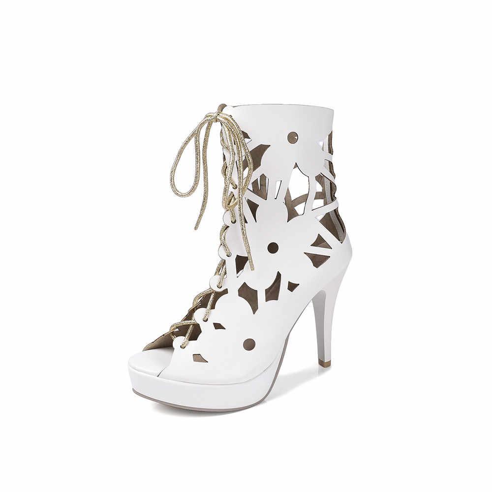 MORAZORA 2020 สไตล์ใหม่ผู้หญิงรองเท้าคุณภาพสูง pu แฟชั่นฤดูร้อนรองเท้าขนาด 33-44 elegant peep toe 10cm รองเท้าส้นสูงรองเท้า