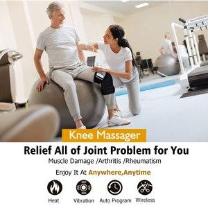 Image 5 - 遠赤外線膝関節加熱マッサージフィールヤングベルトブレースショルダー肘関節炎膝サポートブレース振動膝治療装置