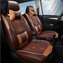 Cojín del Asiento de coche Cubre Universal 3D Car-styling Accesorios Interiores de Automóviles Asiento de cuero Cubre para HYUNDAI 1 UNIDS 3 de color