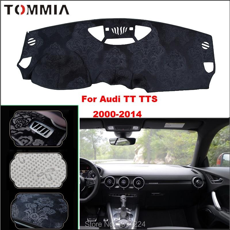 Tommia Car Dashboard Cover Mat Light Avoid Pad Photophobism Anti-slip protection For Audi TT TTS 2000-2014