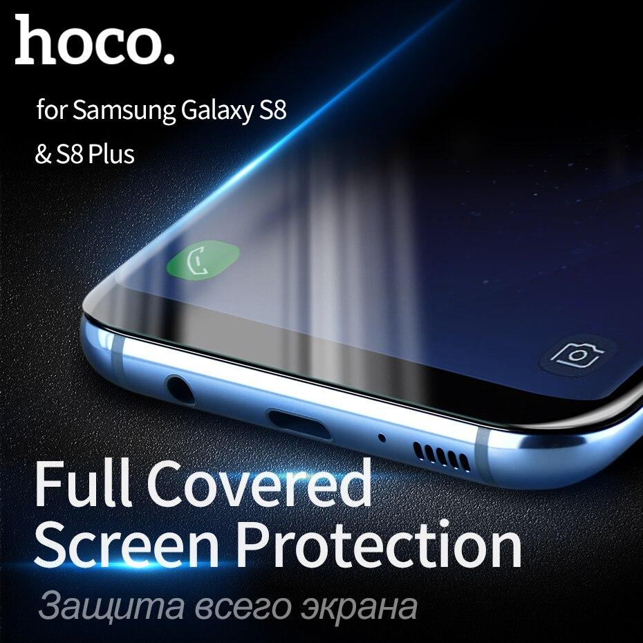 imágenes para HOCO Protector Protector Bordes Curvos De Vidrio Templado Completo Cubierta Protectora de la Pantalla Táctil para Samsung Galaxy S8/S8 MÁS