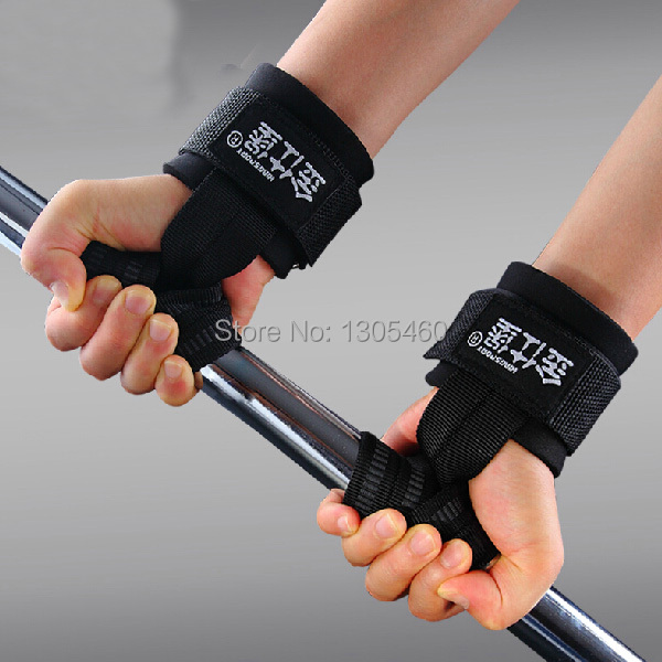 Padded Weight Lifting Hand Wrist Straps Bar Support Strap Gym Training