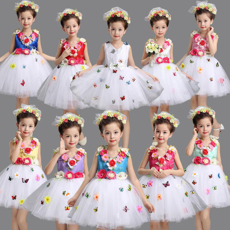 Girls Sequined Ballet Dance Wear Dress Kids Party Ballroom Stage Dancing Fancy Dress Children's Performance Jazz  Tutu Dress