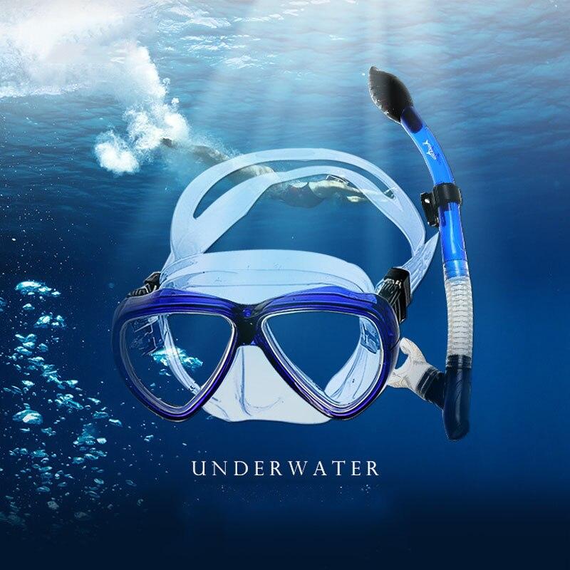 b94ee8ba7 Cheap Máscara de buceo profesional caliente Snorkel antiniebla gafas  Mascarilla Natacion equipo de piscina de pesca