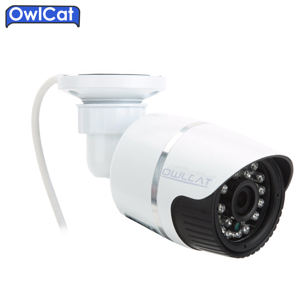 OwlCar Full HD 720P 960P 1080P 3.6mm lens IR Waterproof Outdoor Bullet CCTV IP Camera IR LED Day Night ONVIF CCTV Camera IP outdoor waterproof white metal case 1080p bullet poe ip camera with ir led for day