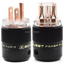 SonarQuest SE-RP (T) y SE-RC (T) Serie HiFi Audio Grado de Alimentación de CA Conector de Cobre Rojo
