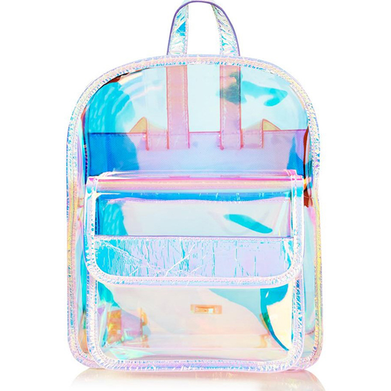Hologram Women Girls Backpack Korean Laser Transparent School Bag Backpacks For Teenagers Student Travel Waterproof Shoulder Bag women laser backpack geometric shoulder bag student s school bag luminous backpack laser sequins folding bags daily backpacks