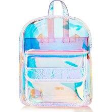 Hologram Women Girls Backpack Korean Laser Transparent School Bag Backpacks For Teenagers