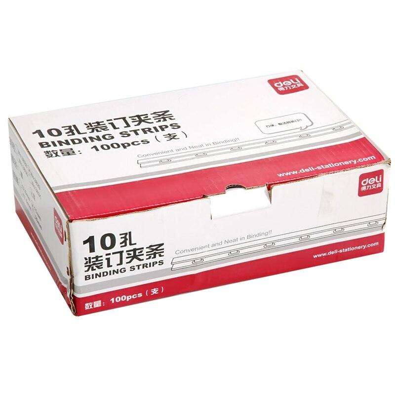 все цены на DL Effective 3829 binder 10 hole 15mm binding strip 100  box A4 plastic strips  Stationery for office supplies students онлайн