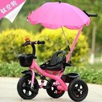 Новые детские трехколесный велосипед с 3 колеса сезон: весна–лето открытый ребенок дети коляска велосипед с зонтиком Титан Пустой Круглый