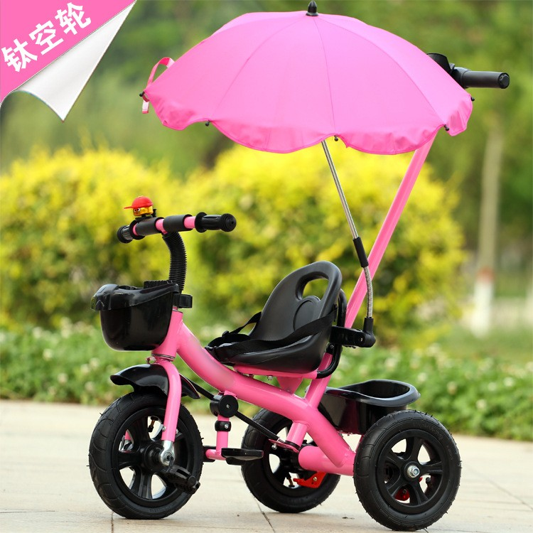 New Baby Tricycle Bicycle With 3 Wheel Spring Summer Outdoor Child Baby Kids Stroller Bicycle With Umbrella Titanium Empty Wheel