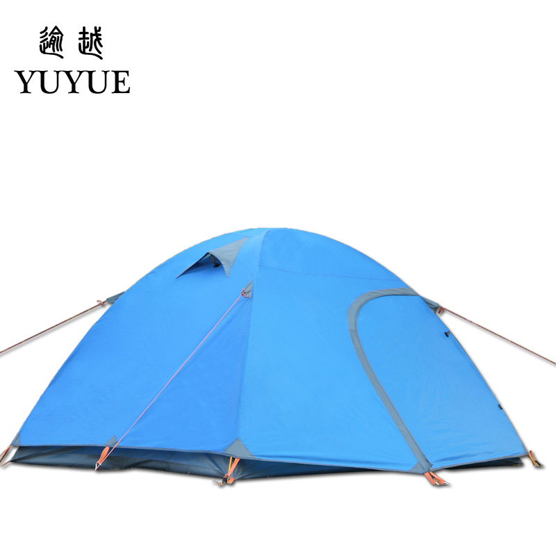 3-4 person waterproof tourist tent for hiking the tent camp Waterproof index 3000mm aluminium pole carpas de camping tente 3