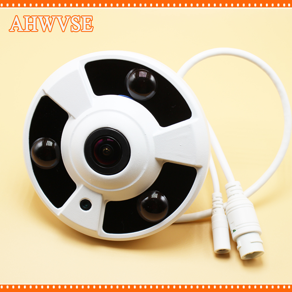 Panoramic Camera IP 720P 960P 1080P Optional IP Camera Wide Angle FishEye 5MP 1.7MM Lens Camera CCTV Indoor ONVIF 3 ARRAY IR LED купить