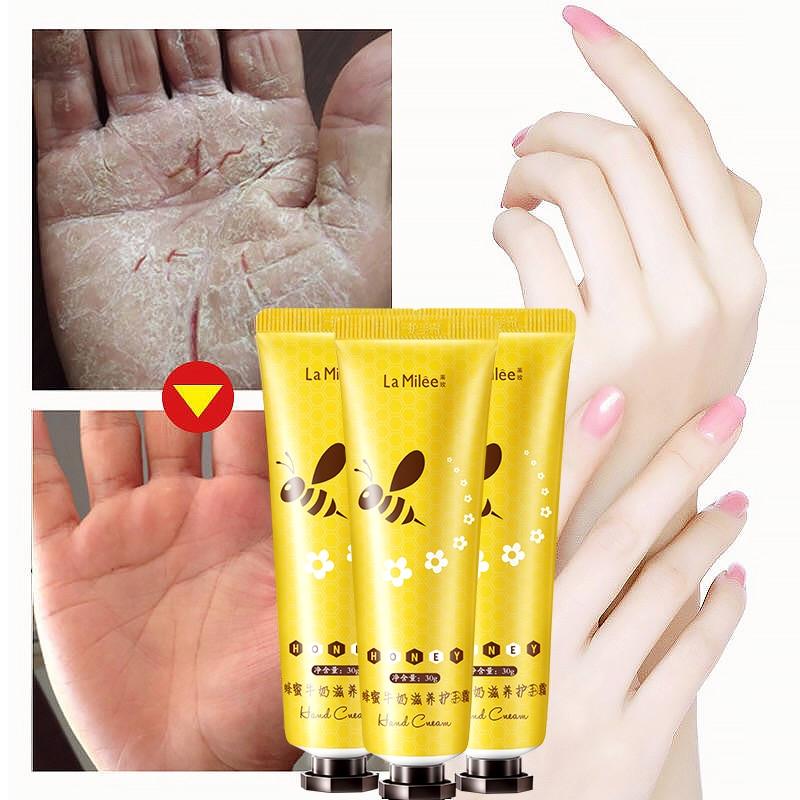 LAMILEE Honey Milk Hand Cream Anti-Dryness Moisturizing Anti-chapping Whitening Hand Care 30g Hydrating For Winter Repair