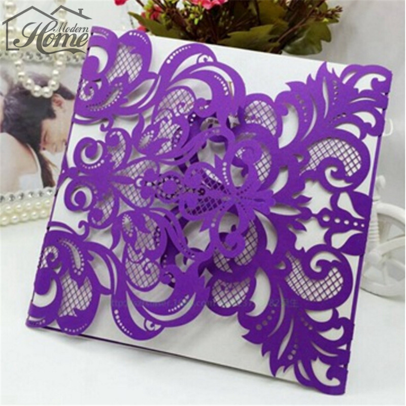 10sets 150 * 150mm Personalized Wedding Invitation Cards Laser Cut Card  Wedding Cards Good For Your
