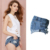 Olrain Hot 2016 New Mulheres Estilo Boyfriend Solto Rasgado Buraco Ondulação Denim Jeans Shorts Beachwear Plus Size