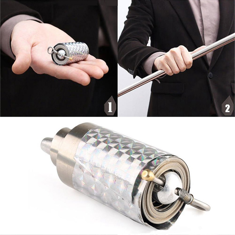 Costume Props New 1pcs 110cm Magic Stick Appearing Cane Magic Props Tool Silver Cudgel Metal For Professional Magician #1121 Costumes & Accessories
