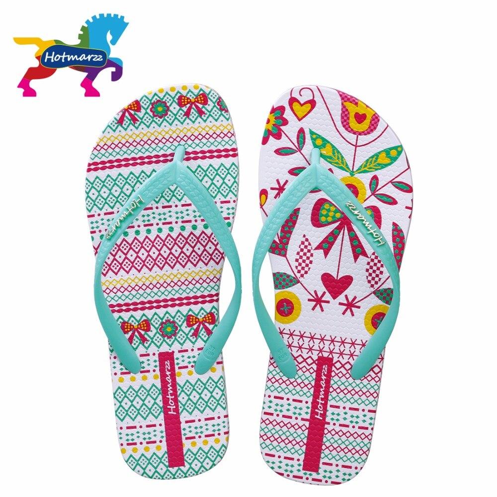 Hotmarzz Women Flip Flops Fashion Slides Summer Slippers Home Beach Shoes Pantufa 2017 Ladies Flat Thong