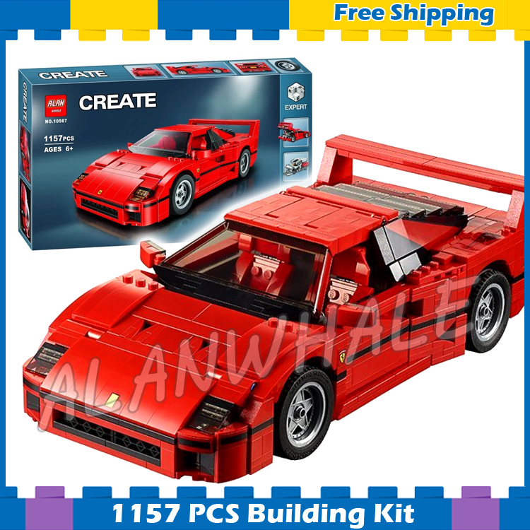 1157pcs Creator Expert Technic Mobile Super Sport Car F40 10567 Model Building Blocks Assemble Gifts sets Compatible with Lego