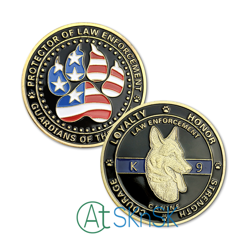 Latest coins gift Fashion medals Protector of Law