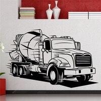 ビッグトラック壁デカール半トラックセメント輸送自動車ウォールステッカーホームデコレーションルームインテリアビニールステッカーx446
