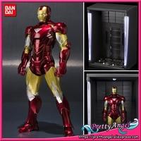 Genuine Bandai Tamashii Nations S.H.Figuarts Exclusive IRONMAN 2 Iron Man Mark 6 (MK 6) & Hall of Armor SET Action Figure