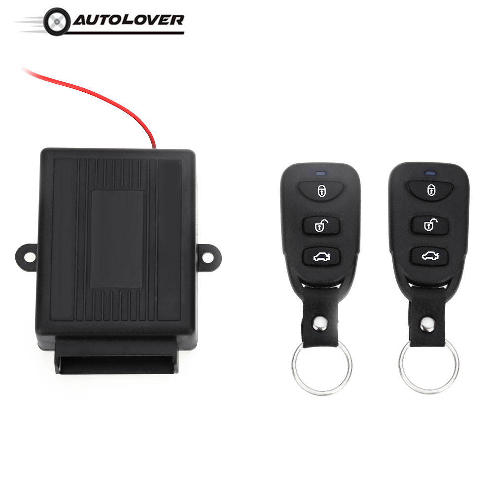 433.92MHz Universal Car Auto Vehicle Remote Central Kit Door Lock Unlock Electric Lock Air Lock Window UP Keyless Entry System