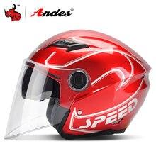Andes Motorcycle font b Helmet b font Summer Unisex Scooter font b Helmet b font Windproof